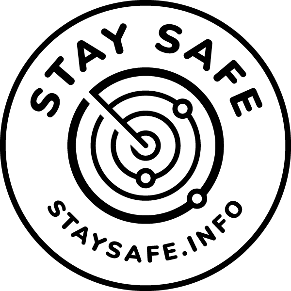 StaySafe Logo Black on White