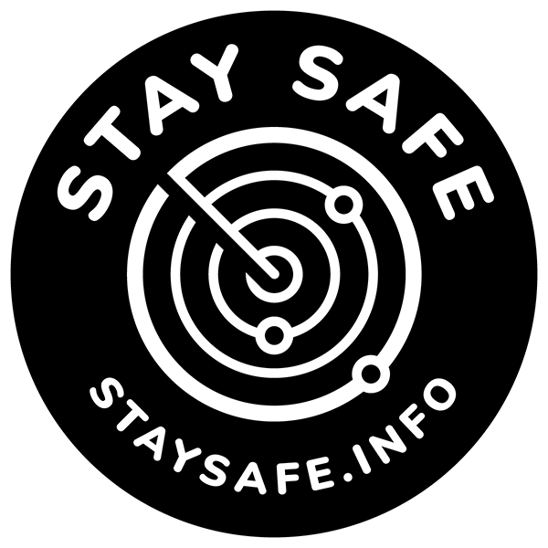 StaySafe Logo White on Black